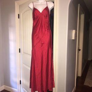 Victoria's Secret 100% silk ruby red maxi slip m